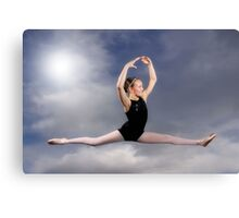 Leaping in the Clouds Canvas Print
