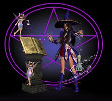 Love Potion Number Nine .. the witch and the fairy by LoneAngel