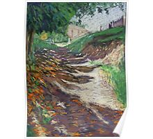 Path near Abergavenny Castle, Wales, UK Poster