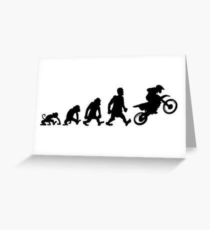 motorcycle motocross trial enduro darwin evolution moto Greeting Card