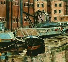 Old Barges - Gloucester Docks by helikettle
