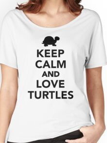 Keep calm and love Turtles Women's Relaxed Fit T-Shirt