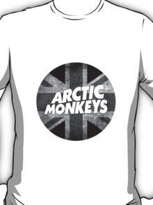 Black & White British Flag AM Logo T-Shirt