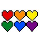 Pride Pixel Hearts by GinaBascombe