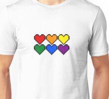 Pride Pixel Hearts Unisex T-Shirt