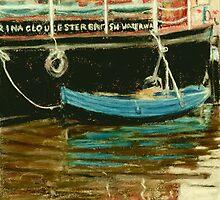 Blue boat - Gloucester Docks, England by helikettle