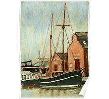Old Sailing Boat in Gloucester Docks Poster