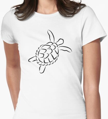 Ocean turtle Womens Fitted T-Shirt