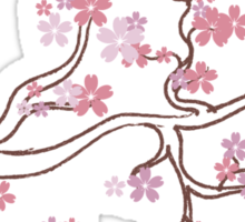 Blooming Sakura Branch 5 Sticker