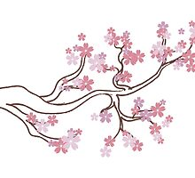 Blooming Sakura Branch 5 by AnnArtshock
