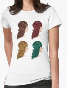 Curly Hairstyle 2 Womens Fitted T-Shirt
