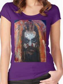 ROY WOOD Portrait. Wizzard, ELO, The Move Women's Fitted Scoop T-Shirt