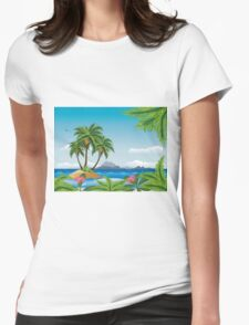 Tropic island 2 Womens Fitted T-Shirt