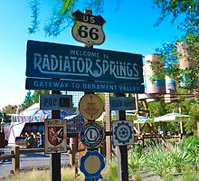 Radiator Springs Entrance by Gianna Oliveri