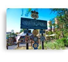 Radiator Springs Entrance Canvas Print