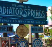 Radiator Springs Entrance Sticker