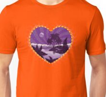 Tropical island in a heart Unisex T-Shirt