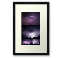 Lightning Collage Framed Print