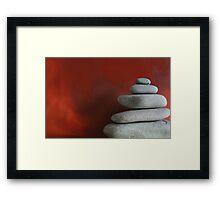 Stacked Pebbles Framed Print