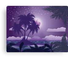 Tropical island at night Metal Print