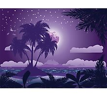 Tropical island at night Photographic Print