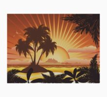 Sunset tropical island Kids Clothes