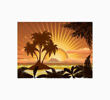 Sunset tropical island Unisex T-Shirt