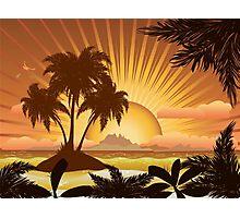 Sunset tropical island Photographic Print