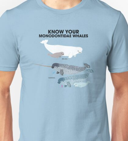 Know Your Monodontidae Whales Unisex T-Shirt