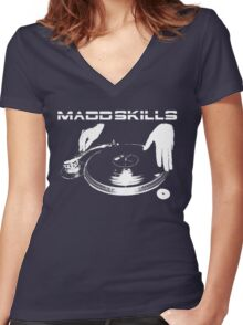 Madd Skills Women's Fitted V-Neck T-Shirt