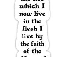GALATIANS 2:20 cross Sticker