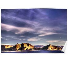 Sunrise at Lake Powell Above the Glen Canyon Dam Poster