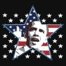 Obama Star Shirt by JayBakkerArt