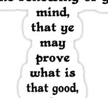 ROMANS 12:2 cross Sticker