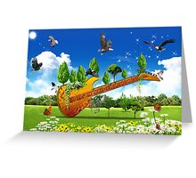 Guitard Greeting Card