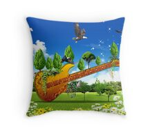 Guitard Throw Pillow