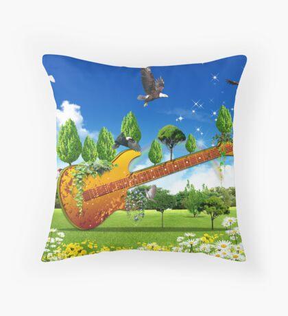 Guitard Throw Pillow