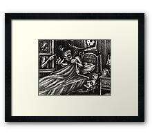What goes POP in the night... Framed Print