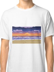 Sunset on tropical beach Classic T-Shirt