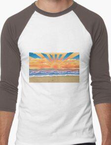 Sunset on tropical beach 2 Men's Baseball ¾ T-Shirt