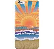 Sunset on tropical beach 2 iPhone Case/Skin