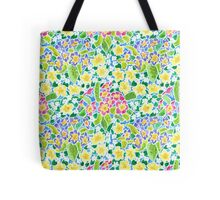 Pretty Spring Primroses Pattern Tote Bag