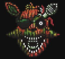 Five Nights at Freddy's 3 - Pixel art - Phantom Foxy One Piece - Short Sleeve