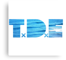 TDE Ocean Blue Waves Canvas Print