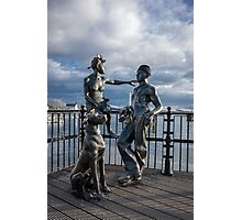 "Sculpture named ""people like us"", in Cardiff Bay Photographic Print"