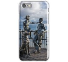 """Sculpture named """"people like us"""", in Cardiff Bay iPhone Case/Skin"""