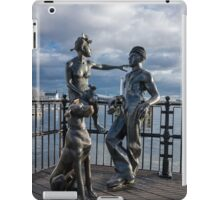 "Sculpture named ""people like us"", in Cardiff Bay iPad Case/Skin"