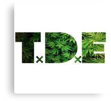 TDE Weed Marijuana Cannabis   Canvas Print