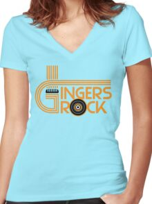 Gingers rock Women's Fitted V-Neck T-Shirt