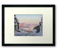 Sundown at Pays Plat Framed Print
